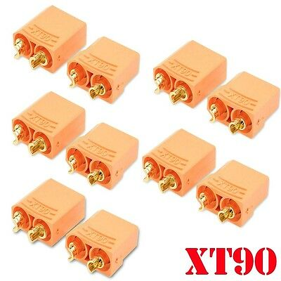 5 Pairs XT90H Banana Bullet Connector Male/Female For RC Model Battery Bullets