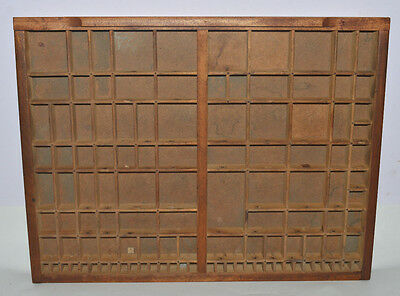 Vintage Printer's Type Tray/Drawer Shadow Box, Yankee Size case, no pull