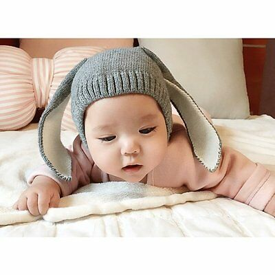 Winter Cute Baby Rabbit Ears Knitted Hat Toddler Kids Wool Cap For Children