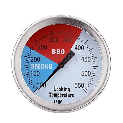 3'' Stainless Steel Barbecue BBQ Thermometer Gauge Temperature Controller Tool