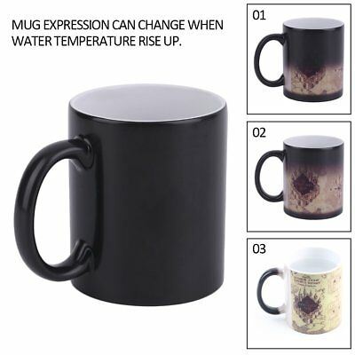 For Harry Potter Color Changing Mug For Marauders Map Ceramic Coffee Cup New EH