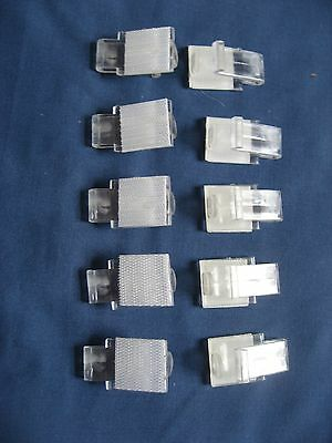 "100 Snap Drape Table Skirt Clips With Velcro Stlye ""av"" 3/8""-1/2"" Clear"
