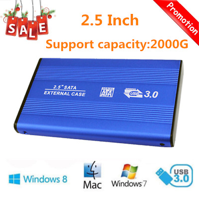 2.5 Inch USB3.0 Aluminum External Hard Drive Disk SATA Solid State HDD HT