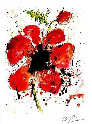 """Dominic Pangborn """"abstract Poppy"""" Seriolithograph~Park West~Free Shipping"""