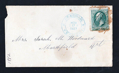 Peacham, Vermont - VT - 1882 Cover postmarked with a 3 cent stamp.