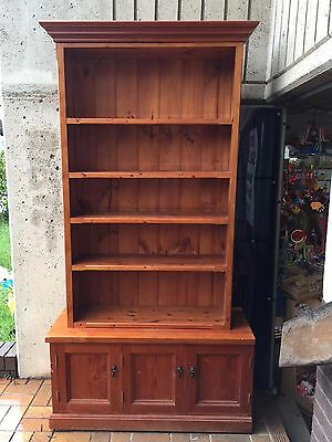 Used Timber Adjustable Bookcase/shelving with 3 doors
