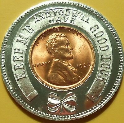 1935 Good Luck Penny Encased