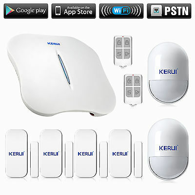 KERUI w1 APP Control WiFi HOME Alarm System kit House with pet friendly siren