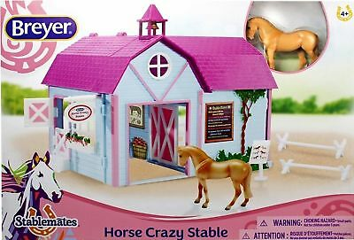 Breyer Horses Horse Crazy Stable Set Stablemates 1:32 Scale 59193 New Colour