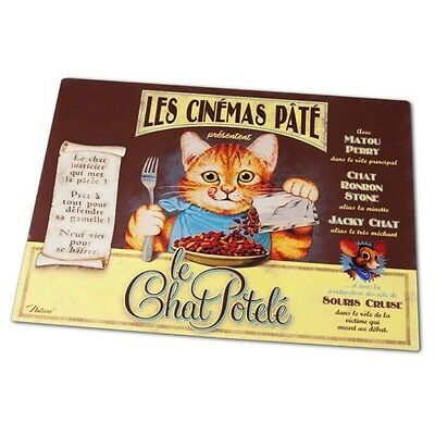 "Tapis de gamelle Chat  ""Chat Potelé""  Set de table Chat Protection Sol Natives"