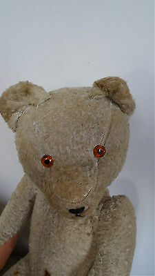 jouet ancien ours vintage - old antique jointed teddy bear - 42 cm