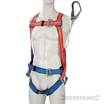 Silverline Restraint Kit Harness Safety Protection lanyard with alloy steel