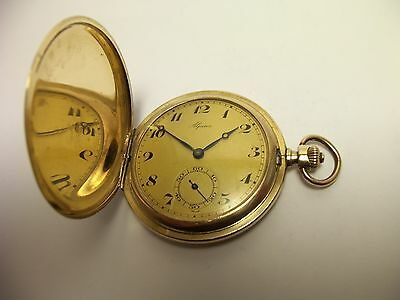 Alpina Taschenuhr Savonette Sprungdeckel  40 Mikron Gold Double serviced ~1930
