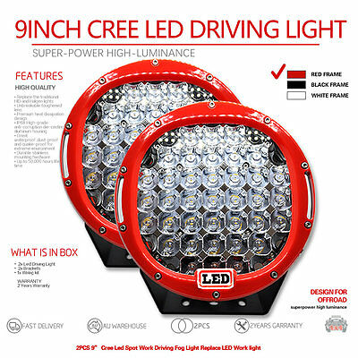 2X 9inch 7580W Cree Led  Spot Work Driving Light  OFFROAD high power red