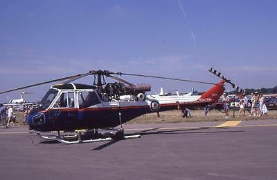 Original 35mm Aircraft Slide ETPS Westland Scout AH.1 Helicopter XP849 1990