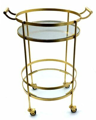 Zoha Home Indoor Outdoor Fine Crafted Bar Serving Cart with wheels