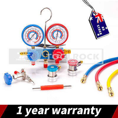R410A R22 Manifold Gauge Set AC A/C 5FT with Color Hose Air Conditioner HVAC 60""