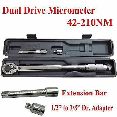 "Toolrock Click Type Adjustable Torque Wrench 42-210Nm 1/2"" Drive Ratchet Spanner"