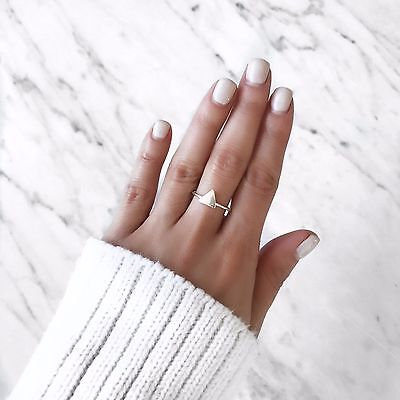 SMALL STERLING SILVER TRIANGLE RING. Bohemian Ring, Gypsy Ring, Boho Ring