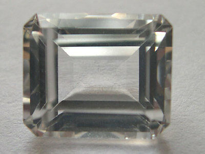 7x5mm OCTAGON-FACET ICE-WHITE NATURAL AFRICAN TOPAZ GEMSTONE