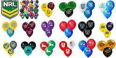 NRL Birthday Party Helium Quality Balloons 25 Pack! All Teams Available!