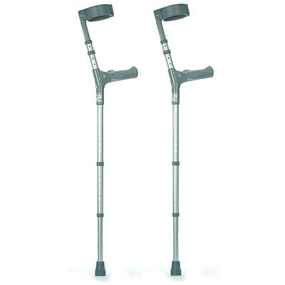 Pair of Elbow Crutches with Comfy Handles (Choose Your Size)