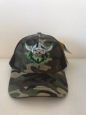 Canberra Raiders NRL Classic Adult Camouflage Camo Trucker Cap!