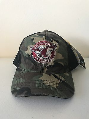 Manly Sea Eagles NRL 2017 Classic Adult Camouflage Camo Trucker Cap!
