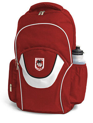 St George Illawarra Dragons NRL Fusion Backpack with 3 Compartments! School Bag