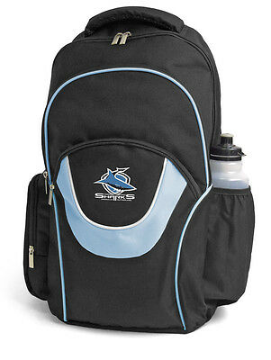 Cronulla Sharks NRL Fusion Backpack with 3 Compartments! School Gym Bag!