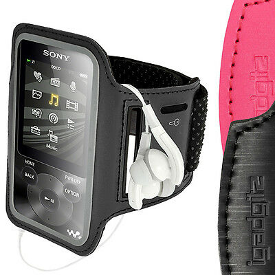 Black Anti-Slip Reflective Neoprene Armband for Sony Walkman NWZ-E585 84 Jogging