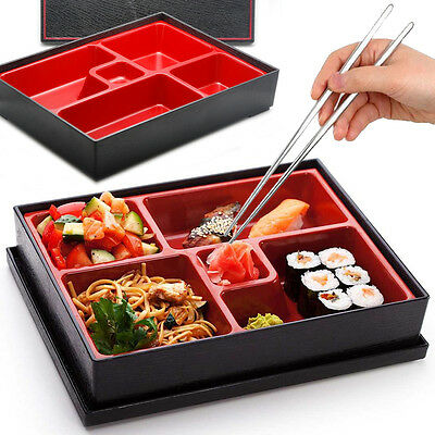 Bento Box Japanese Lunch Box Reusable Chopsticks Rice Sushi Catering Restaurant
