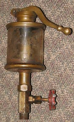 antique LUNKENHEIMER ALPHA NO 6 HAND PUMP Brass Steam Engine Hit & Miss OILER