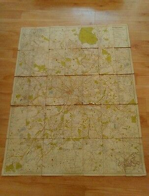 A large Vintage Geographers Plan of City of Birmingham