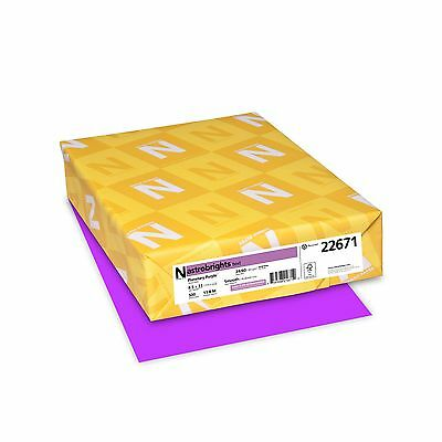 Astrobrights Color Paper 8.5 x 11 24 lb / 89 gsm Planetary Purple 500 Sheets
