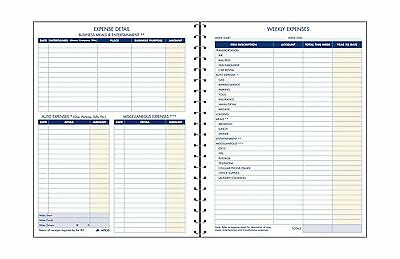 Adams Expense Account Record Book Spiral Binding 8.5 x 11 Inches Clear (AFR20)