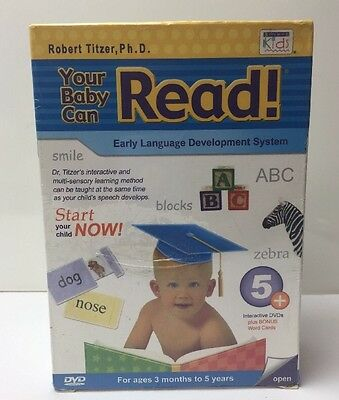 Your Baby Can Read Early Language Development System 5+ Interactive DVD's Titzer