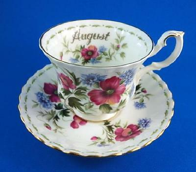 Royal Albert Flower Of The Month August Tea Cup And Saucer