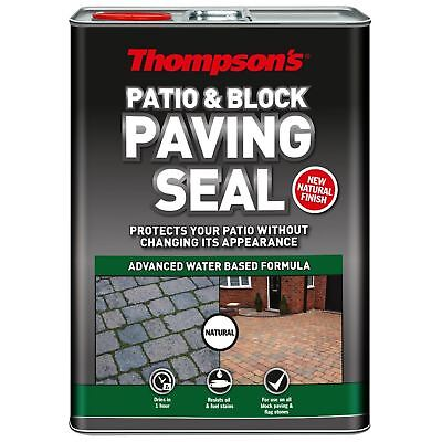 Thompson's Patio & Block Paving Path Seal Clear Finish Protector 5L - Natural