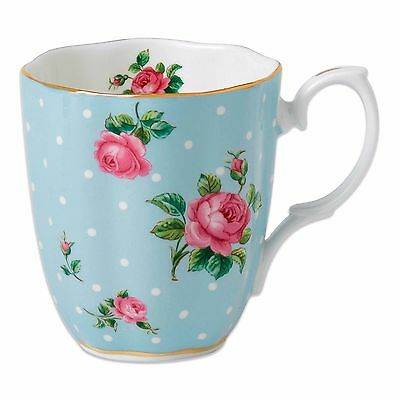 Royal Albert  Mug-Polka Blue New IN THE BOX
