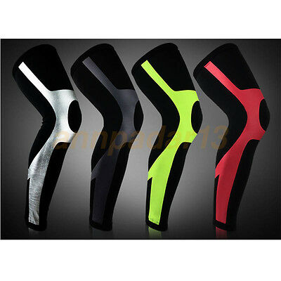 Knee Compression Sleeve Support baseball Running Gym Sports Pain Relief