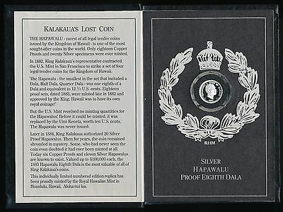 Royal Hawaiian Mint 1991 Hapawalu 1/8 Troy Oz 999 Fine Silver *LOWMINTAGE*