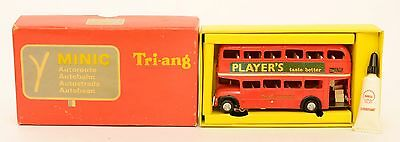 Triang Minic Motorways M1545 PLAYER'S BUS EXC RUNNER EXC BOXED RARE FRENCH ISSUE