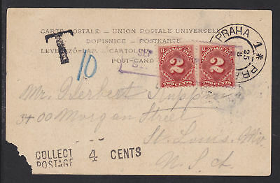 US Sc J46 on 1902 Postage Due PPC, Bruckenthurme