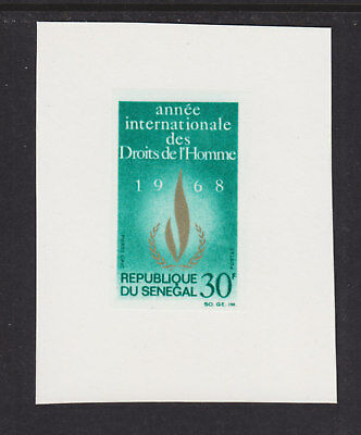 Senegal Sc 298v. 1968 Human Rights Proof on Card