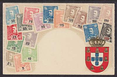 Zieher #1 unused PPC. Stamps of Portugal, Embossed