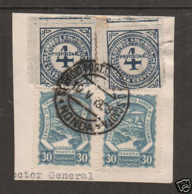 Colombia Sc 396/C42 used on 1928 piece, SCADTA