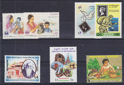 Bangladesh Sc 331/426 MNH. 1989-93 issues, 5 cplt sets