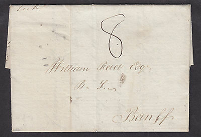 Great Britain, 1799 Stampless SFL, HUNTLY postmark