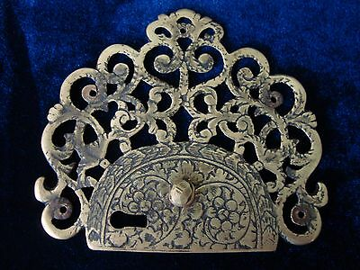 An Antique Ornate Pierced And Engraved Lock Plate.